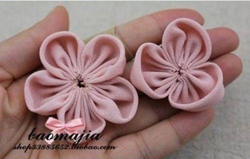 DIY Pretty Fabric Flower Hair Clip 6