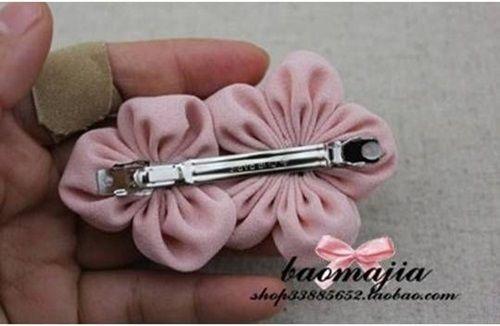 DIY Pretty Fabric Flower Hair Clip 8