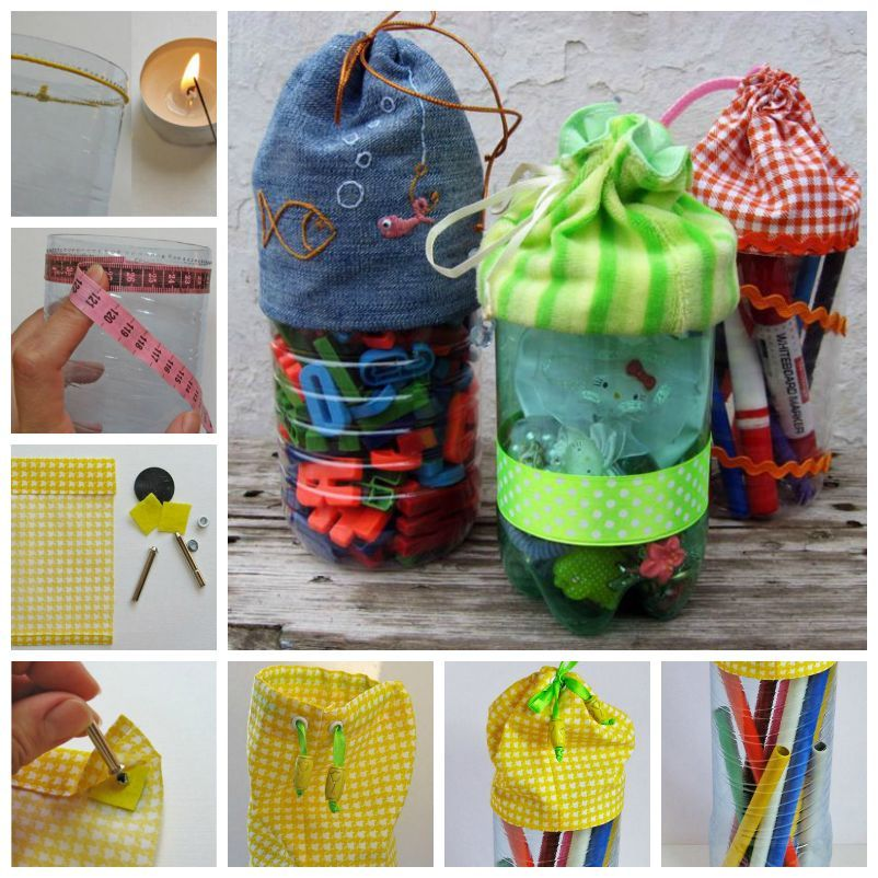 Diy pretty plastic bottle bags for Diy recycled plastic bottles
