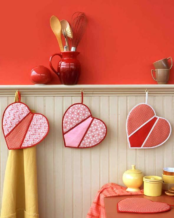 DIY Heart-Shaped Pot Holders