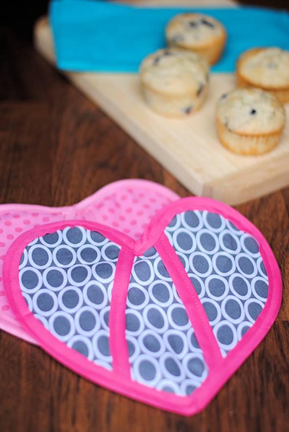 Heart Shaped Oven Mitt Pattern