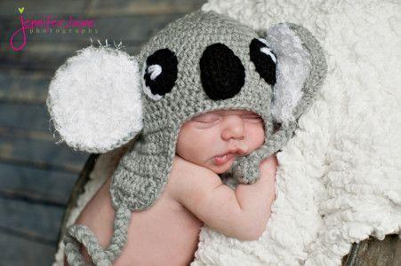 Crochet Koala Hat Free Pattern