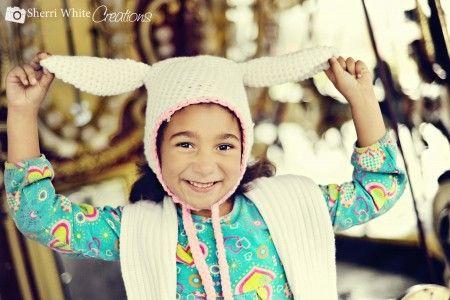 Crochet Easter Bunny Hat Free Pattern