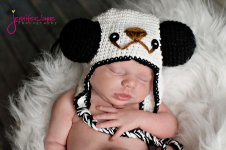 Crochet Panda Hat Free Pattern