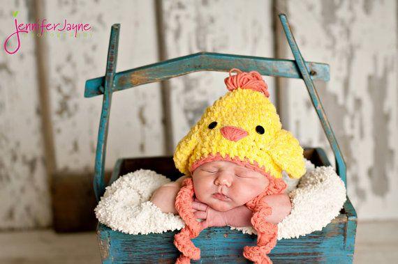 Easter Chicken Crochet Hat Free Pattern