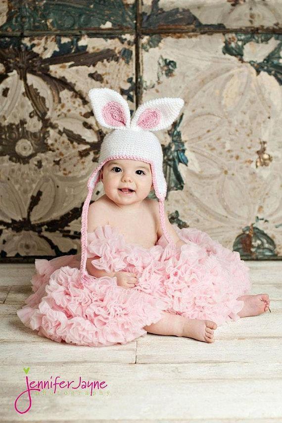 Easter Bunny Hat with Earflap Crochet Pattern