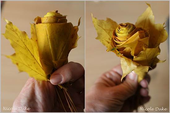 Creative Ideas – DIY Beautiful Maple Leaf Rose 5