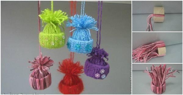 Creative Ideas - DIY Cute Yarn Winter Hat Ornaments a1255cf4cc9f
