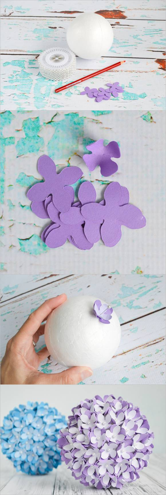 Creative Ideas – DIY Paper Flower Kissing Ball for Wedding