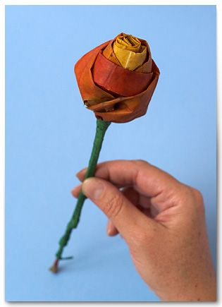 Creative Ideas – DIY Pretty Maple Leaf Rose 11
