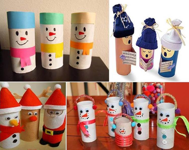 Ideas For Christmas Crafts Part - 28: Creative Ideas - 25 Simple Cute Toilet Paper Roll Christmas Crafts