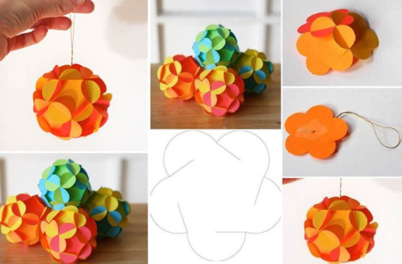 Creative ideas diy 3d paper ball christmas ornament mightylinksfo