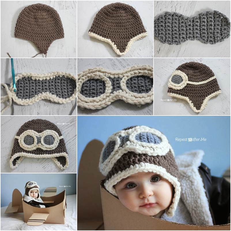 Creative Ideas Diy Adorable Crochet Aviator Hat