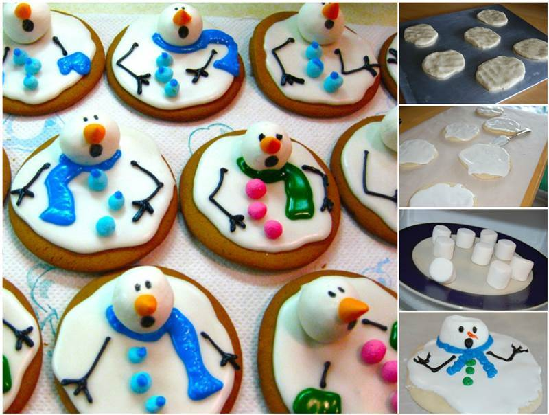 Creative Ideas - DIY Adorable Melted Snowman Cookies
