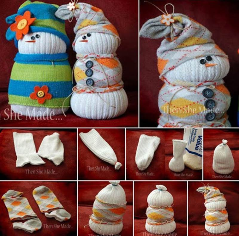 Creative Ideas - DIY Adorable Sock Snowman