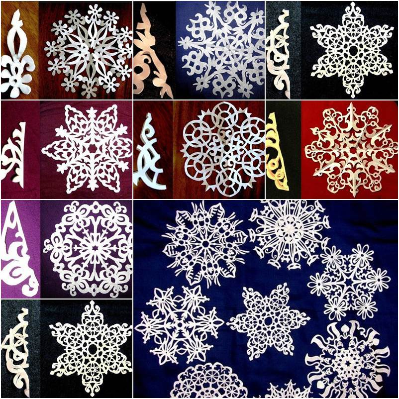 Creative Ideas - 8 Easy Paper Snowflake Templates
