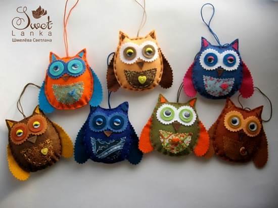 Creative Ideas - DIY Cute Felted Owls 10