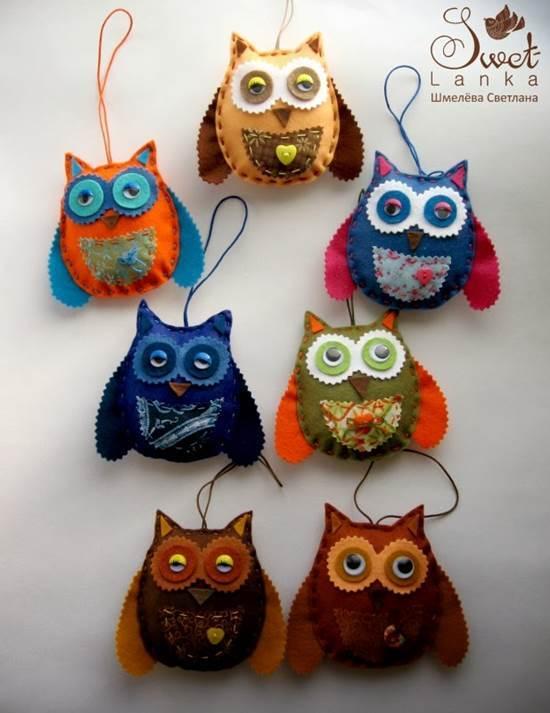 Creative Ideas - DIY Cute Felted Owls 11
