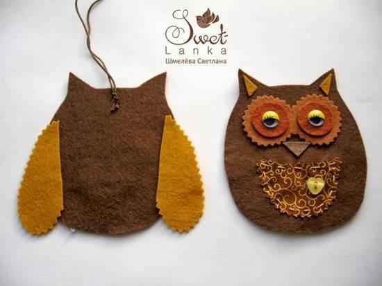 Creative Ideas - DIY Cute Felted Owls 5