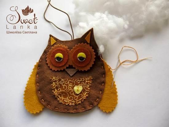 Creative Ideas - DIY Cute Felted Owls 7