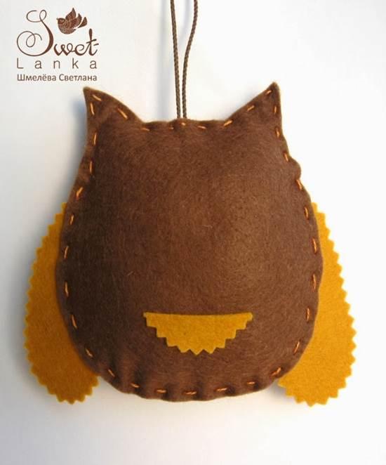Creative Ideas - DIY Cute Felted Owls 9
