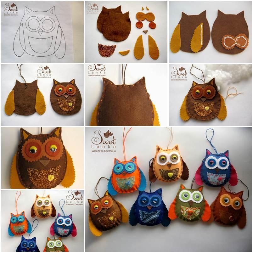 Creative Ideas - DIY Cute Felted Owls