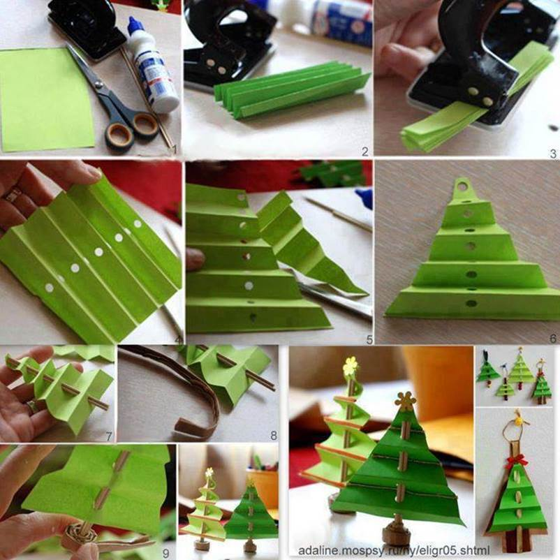 Creative Ideas Diy Easy Folded Paper Christmas Tree