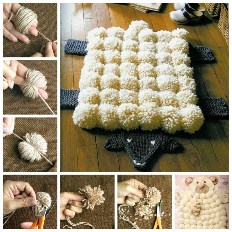 Creative Ideas - DIY Easy Pompoms with Your Own Fingers
