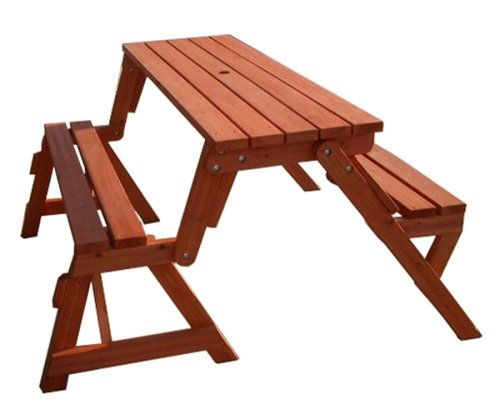 Remarkable Creative Ideas Diy Folding Bench And Picnic Table Combo Evergreenethics Interior Chair Design Evergreenethicsorg