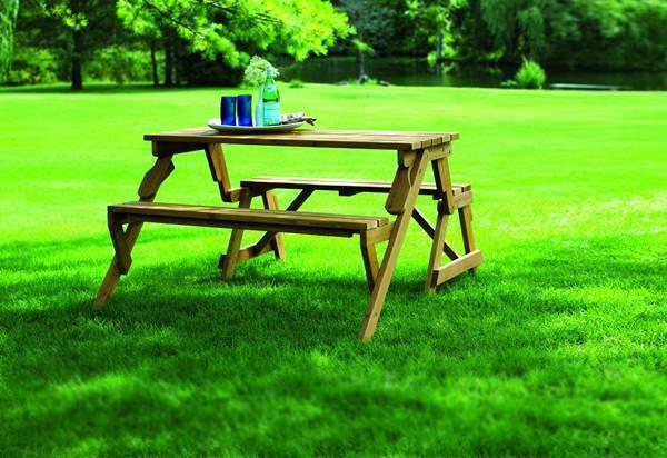 Creative Ideas - DIY Folding Bench and Picnic Table Combo