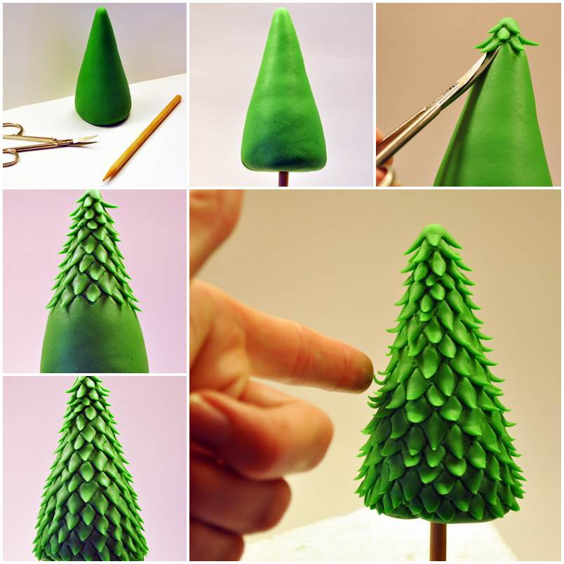 Creative ideas diy fondant christmas tree Creative christmas decorations