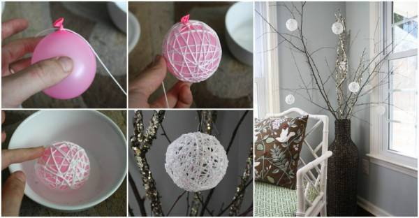 Creative Ideas Diy Glittery Snowball Christmas Ornaments