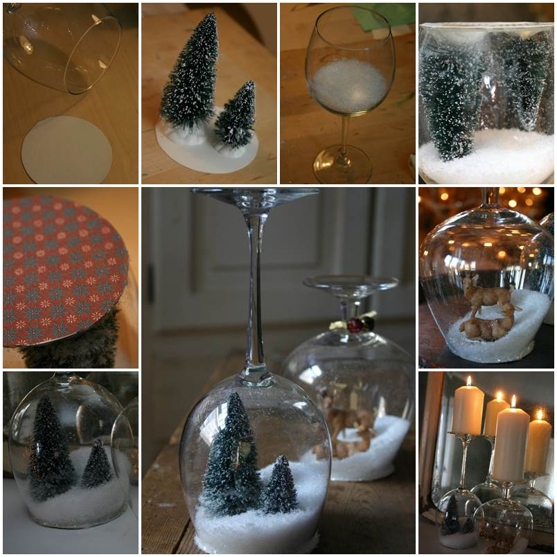 The Most Unique Pinterest Diy Home Decor And Gift Ideas: DIY Goblet Snow Globes