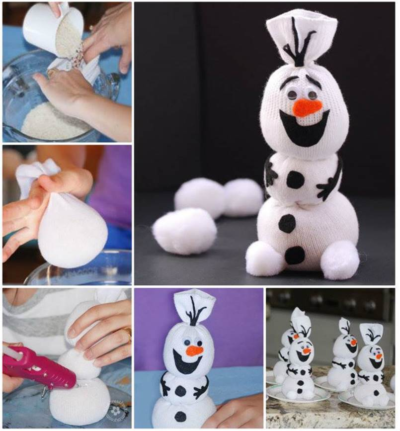 Creative Ideas - DIY Olaf Sock Snowman