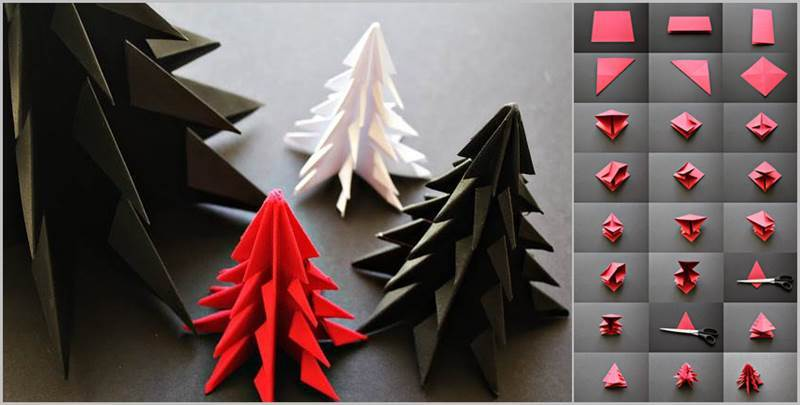 Creative Ideas - DIY Origami Christmas Tree