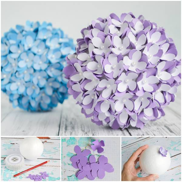 Creative ideas diy paper flower kissing ball for wedding mightylinksfo