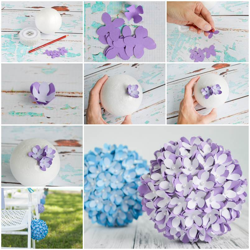 20 Creative Must See Wedding Ideas For Kids: DIY Felt Flower Christmas Ball Ornament