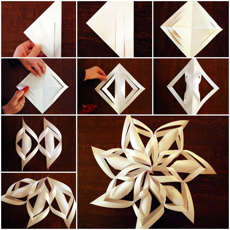 Ideas - DIY Paper Snowflake Christmas Ornament