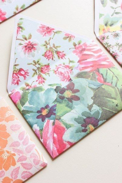 Creative Ideas - DIY Pretty Envelops with Templates 9