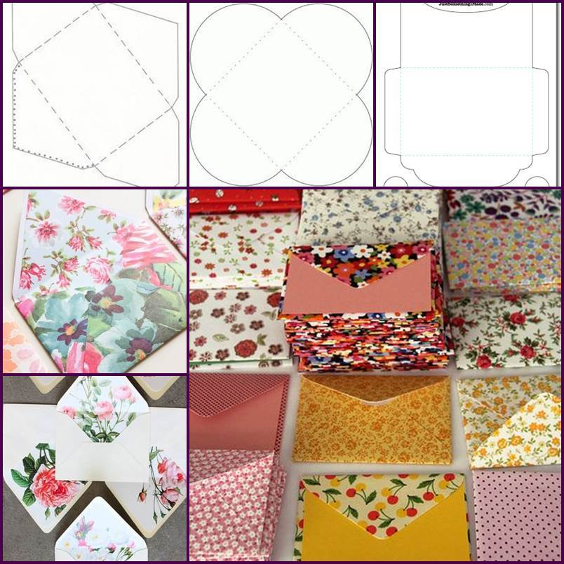 Creative Ideas - DIY Pretty Envelops with Templates