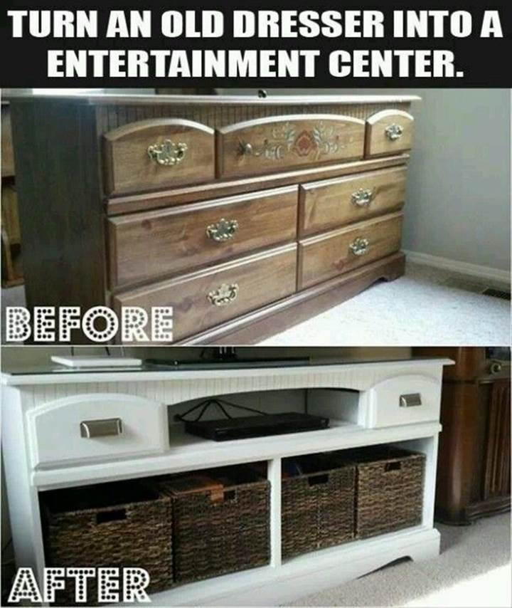 Creative Ideas Diy Repurpose Old Dresser Into