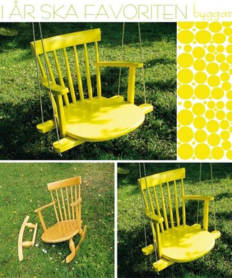 Creative Ideas   DIY Rocking Chair Tree Swing