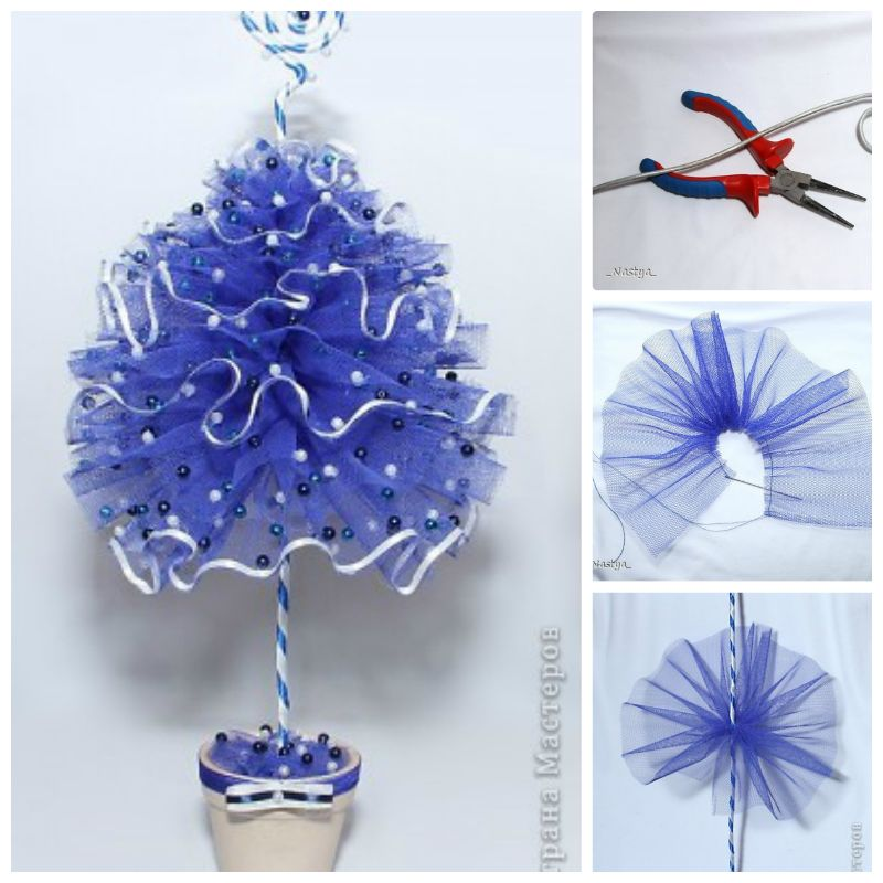 Creative ideas diy tulle christmas tree Creative christmas trees to make