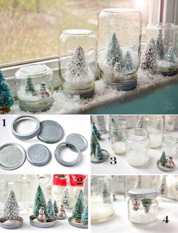 Creative Ideas - DIY Waterless Snow Globes for Christmas