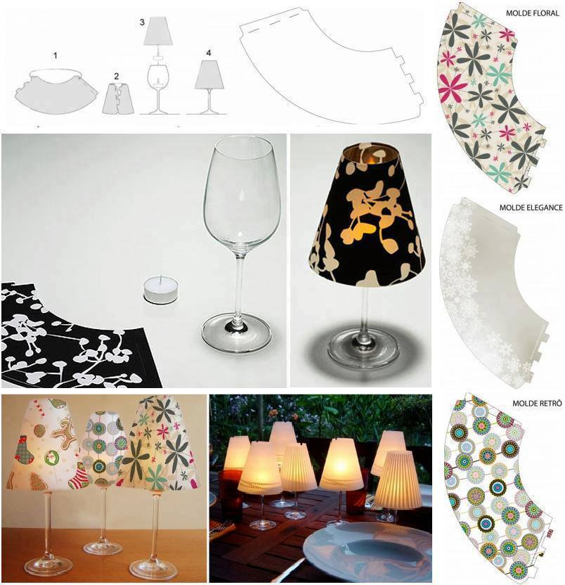 Creative Ideas - DIY Wine Glass Candle Lamps