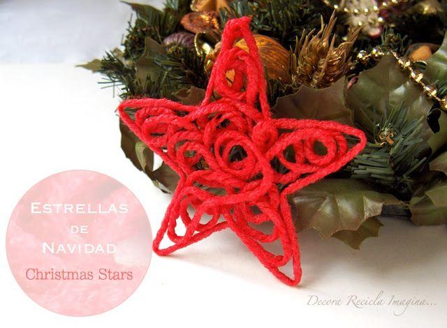 Creative Ideas - DIY Yarn Christmas Star