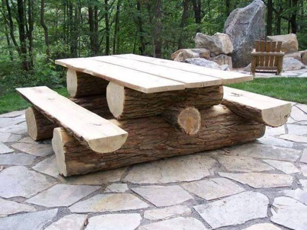Stunning Tree Trunk Garden Furniture. Creative Ideas   Stunning Tree Trunk Garden Furniture
