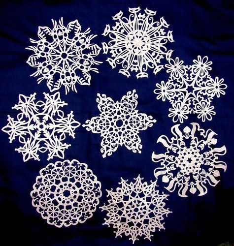 Creative Ideas - DIY Beautiful Paper Snowflakes from Templates