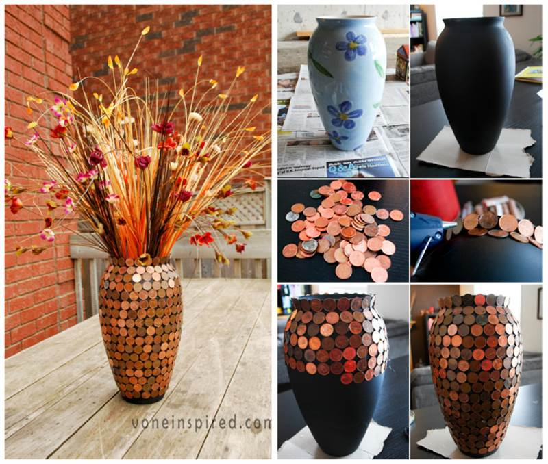 creative ideas diy gorgeous lucky penny vase