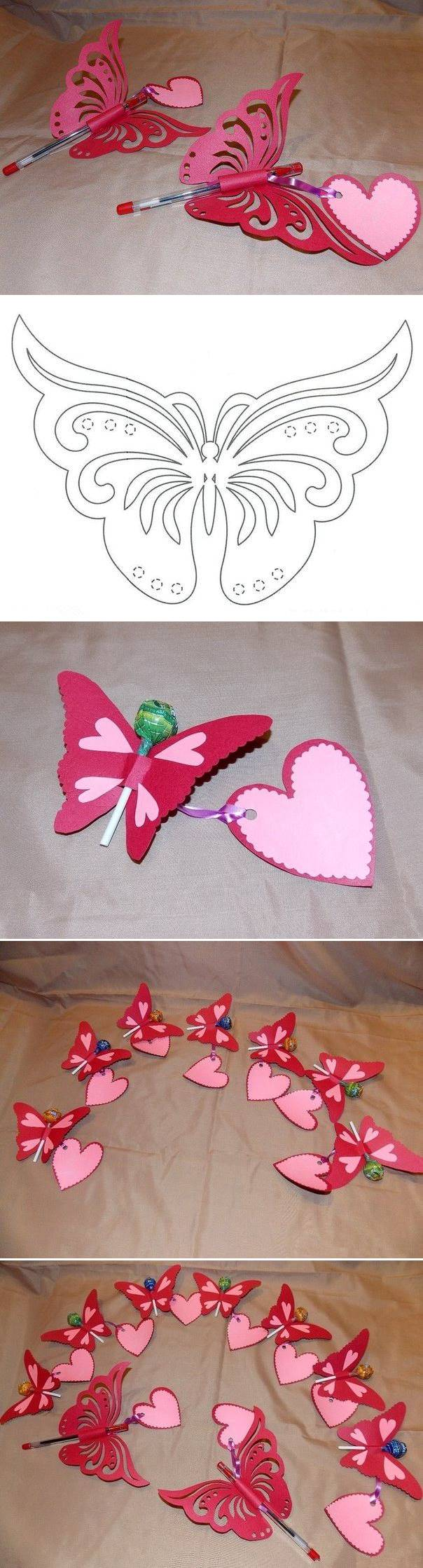 Creative Ideas DIY Pretty Kirigami Butterfly Postcard From Template